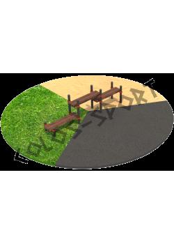 КС-028 Трехуровневая скамейка